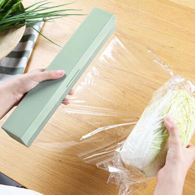 Plastic Food Wrap Dispenser Preservative Cling Film Cutter Cooking Tool Kitchen Accessories Vegetable Roll Bags Cutter1009