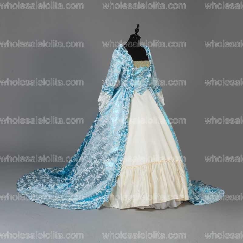 Custom Made Victorian Fancy Masquerade Klänningar Brocade Wedding - Särskilda tillfällen klänningar - Foto 3