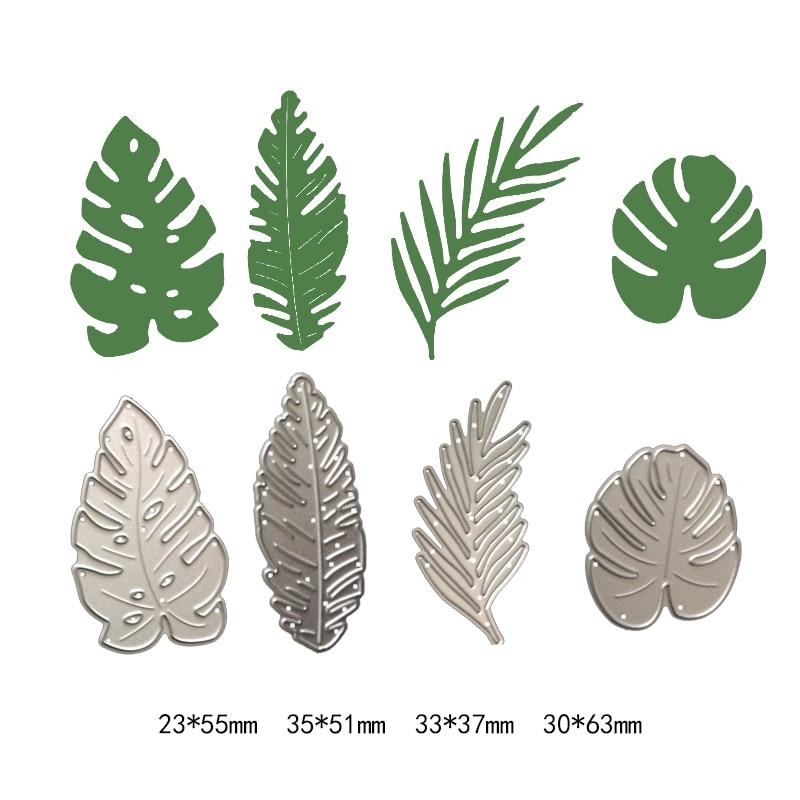 Natural Plant Pine Leaf New Cutting Dies Photo Album Scrapbooking Dies Metal Stencil Craft Cut Paper Card Embossing