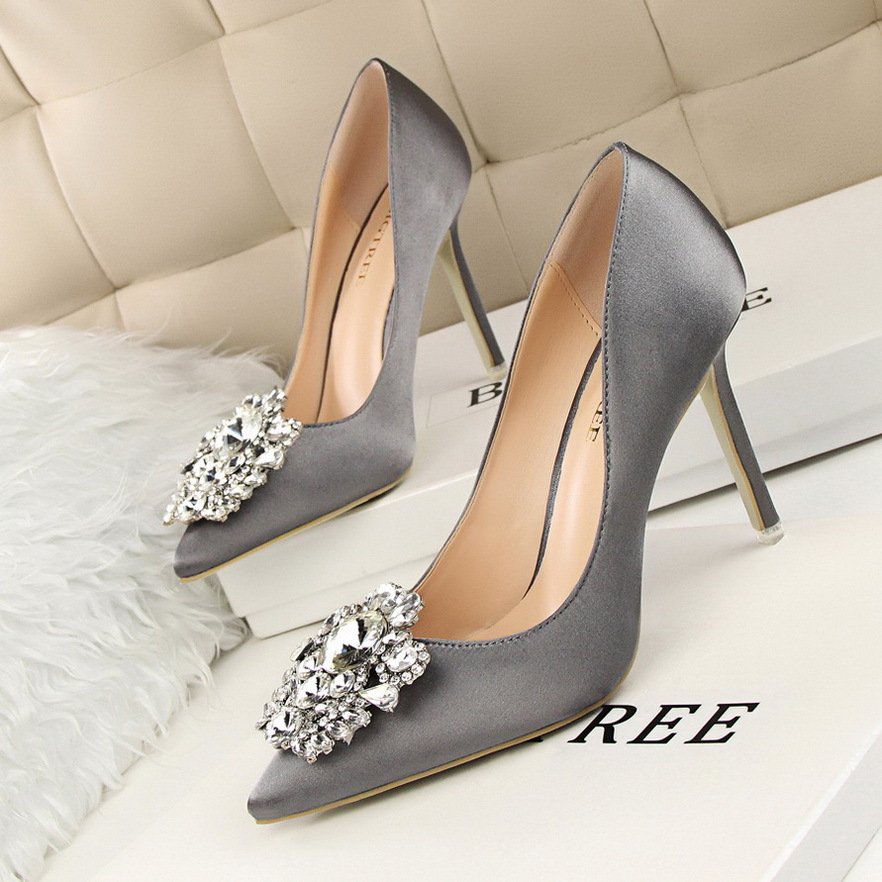 BIGTREE Spring Womens Fashion Shoes Sexy Comfort Thin High Heels Pointed Wild Diamond Wedding Woman Banquet 39 In Pumps From