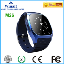 Winait 2017 hot sale M26 smart watch with Bluetooth push QQ,wechat,Twitter,Facebook,Pedometer yes,step motion meter