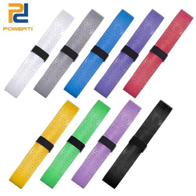 POWERTI 8pcs/pcak Tennis Overgrip Tacky Badminton Racket Grip EVA Breathable Viscosity Grip Sweat Absorbed Wraps Tape