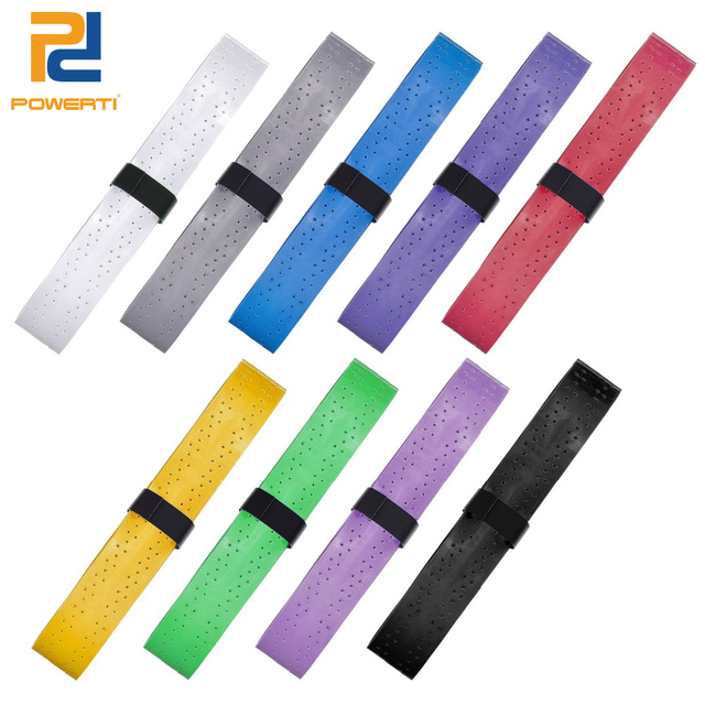 POWERTI 8pcs/pcak Tennis Overgrip Tacky Sweatband Badminton Racket Grip EVA Breathable Viscosity Grip Absorbed Wraps Tape