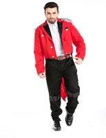 Male Cosplay Command Tuxedo Magician Man Vampire Circus Clown Movies Costumes Halloween Costume 4pcs Free Shipping