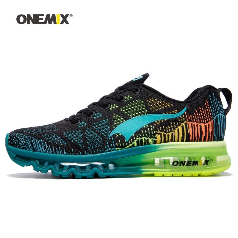 28da79f7df83d2 ONEMIX Men Running Shoes For Women Air Mesh Knit Cushion Trainers ...
