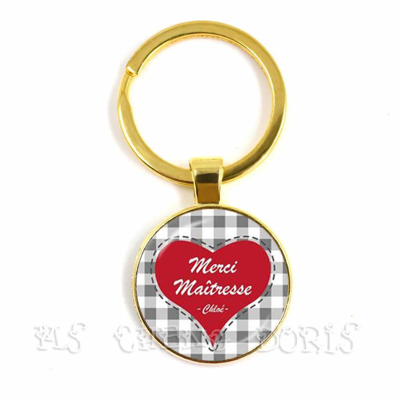 Hot moda prezent dla nauczyciela prezent Super pani brelok męski urok dzięki pani biżuteria brelok biżuteria