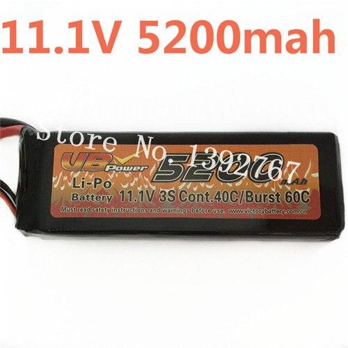 VB Power 11.1 V 5200 MAH Lipo li-po batterie 3 S Cont.40C/Burst 60C pour RC voitures de course monstre camion bateaux réservoir Recharge RC batterie