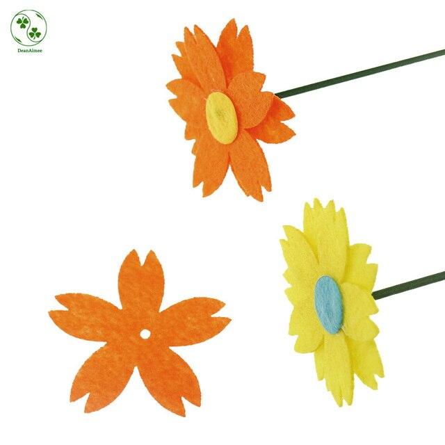 100 Stucke Reine Orange Filz Stoff Blumen Bremsbelage