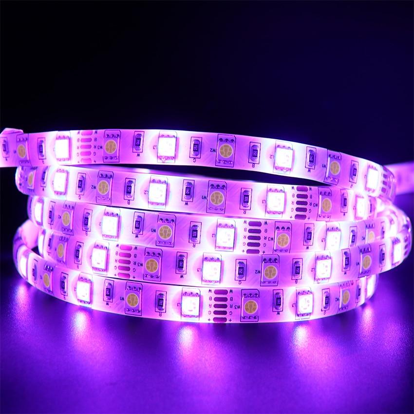 LED Strip 5050 RGBW Waterproof DC12V Flexible LED Light RGB + White / RGB + Warm White 60 LED/m 5m/lot.