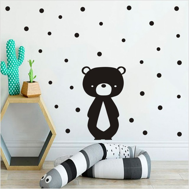 Cartoon Teddy Bear Wall Sticker For Baby S Kids Rooms Decoration Animals Vinly Decals Mural
