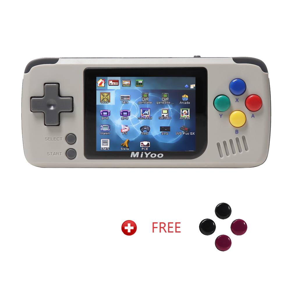 MIYOO, Console de jeu rétro, joueurs de jeu portables, console de jeu vidéo. Mini Console Portable, batterie 1000 mAh. Couleur grise