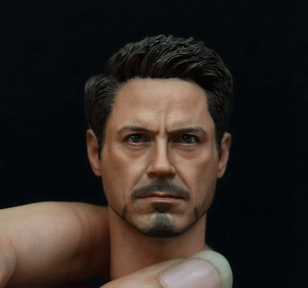 1/6 figure accesories Robert Downey Jr. Iron Man Tony Stark head sculpt carved 12 Action figure doll.not include body;clothes 1 6 scale male head sculpts model toys downey jr iron man 3 captain america civil war tony with neck sets mk45 model collecti f
