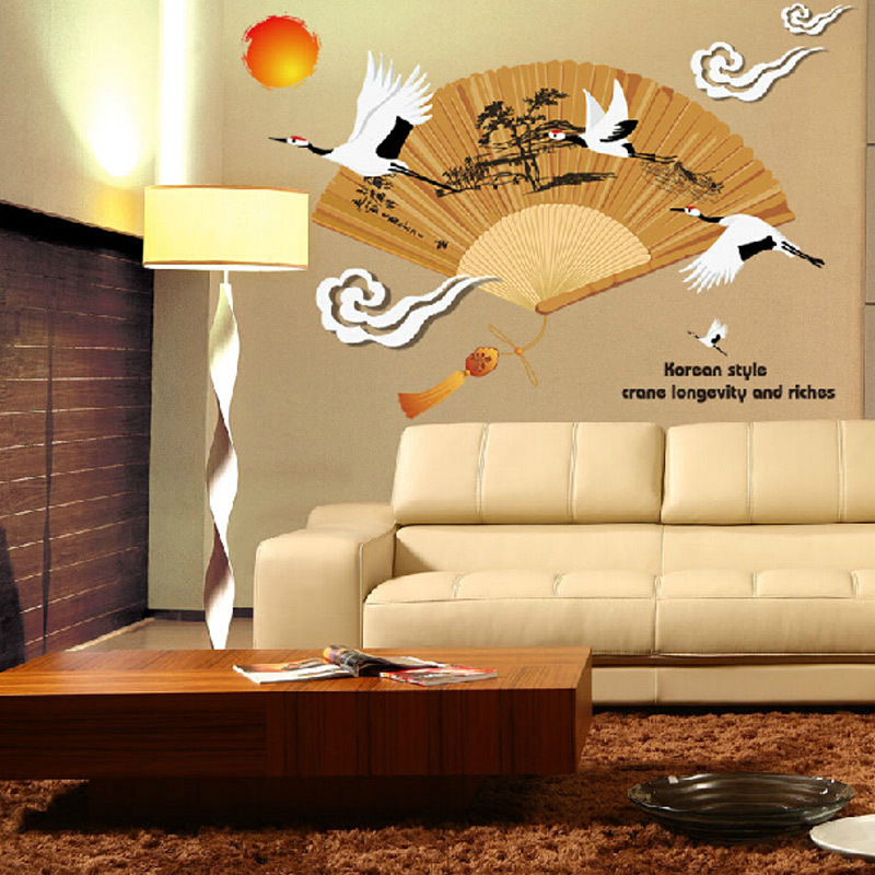Oriental Fans Wall Decor - Home Decorating Ideas