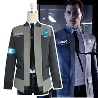 Game Detroit: Become Human Costume Man Cosplay Connor Uniform Jacket Male Coat Halloween Cosplay Costume Full Set