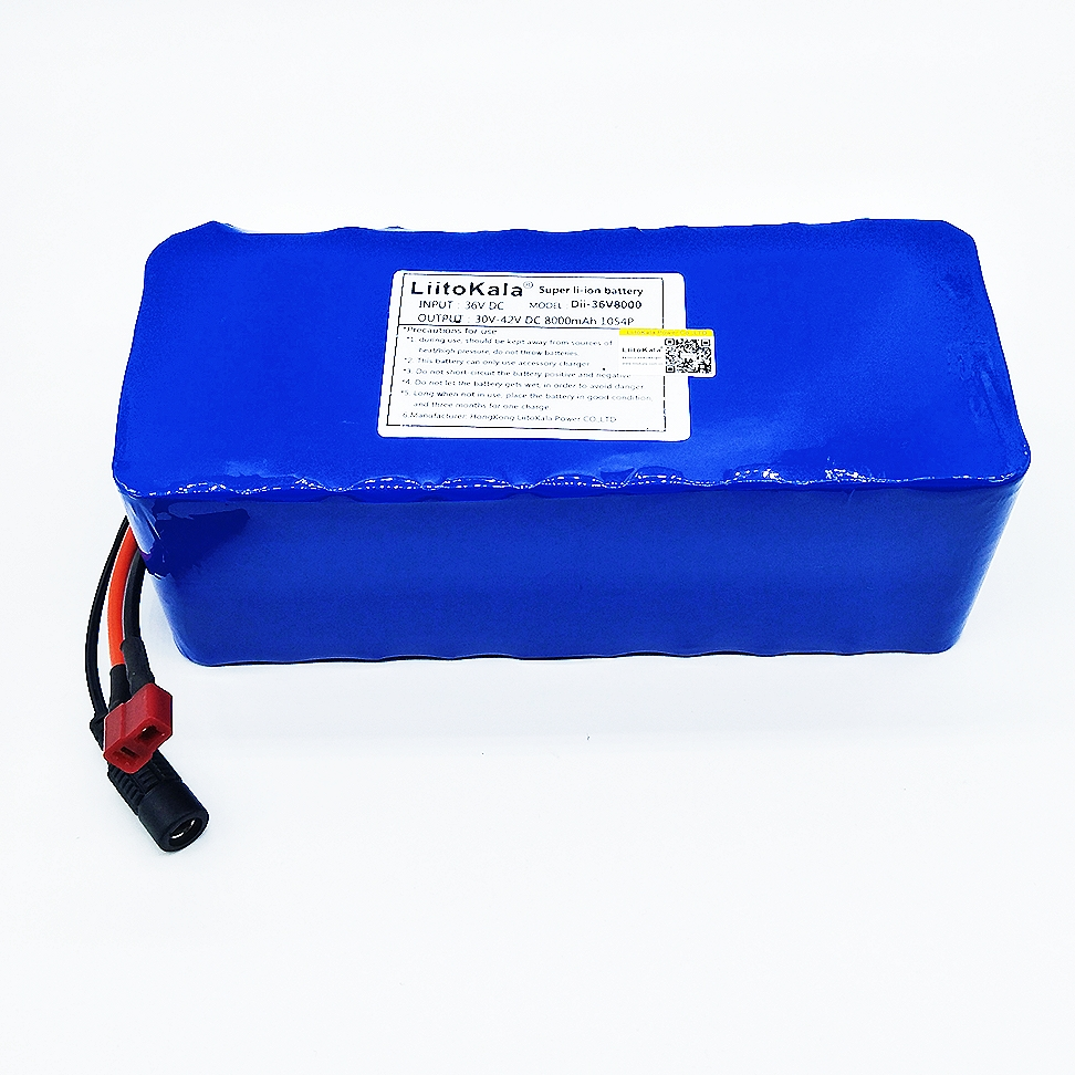 HK Liitokala 36 V 8ah High Capacity Lithium Battery Mass package do not include 42 v