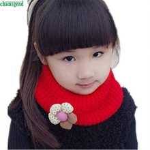 Elegant Nobility Flower Winter Kids Scarf Children Fashion Little Boy Girl Ring Scarf Knitted Neck Warmer Dec 14
