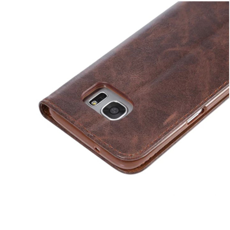 buy popular f241b 12949 US $4.93  S7 Case Luxury Retro Leather Wallet Flip Cover Case For Samsung  Galaxy S7 / S7 Edge Stand Samsung S7 Cases on Aliexpress.com   Alibaba Group