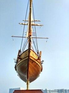 Image 4 - NIDALE modell Freies verschiffen Skala 1/96 Classics Antike Harvey Schlacht holz modell kits HARVEY 1847 holz Segelboot modell