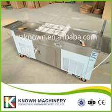 fry ice cream rolls machine with 3 compressors cooler to faster