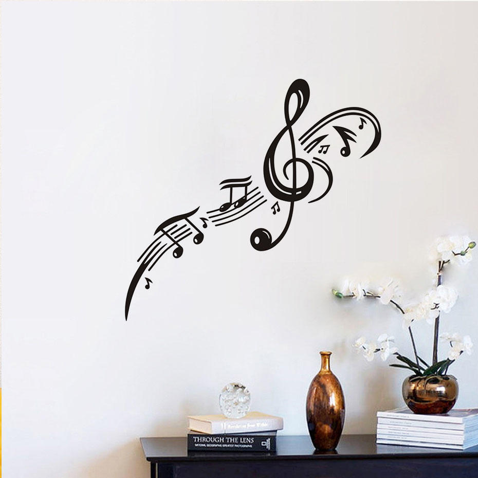 Musical Vinyl Wallpaper: Treble Clef Musical Note Vinyl Wall Stickers Kids Rooms