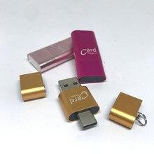 جودة عالية!!! قارئ بطاقة SD صغيرة Typ C USB ، مهايئ OTG قارئ بطاقة ذاكرة SD tf