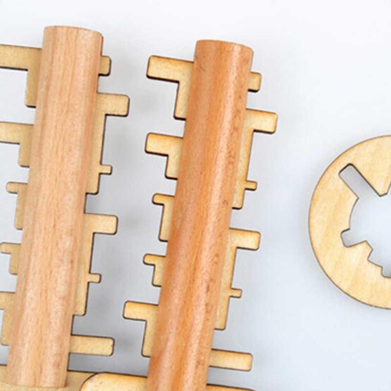 Деревянная игрушка разблокировка ключ-головоломка Классический смешной Конг Мин замковые игрушки развивающие детские головоломки Монтессори игрушки для детей и взрослых