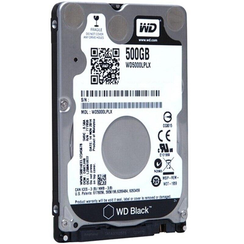 DEO Noir 500g 2.5 SATAIII Interne Disque Dur 500 gb HDD HD Disque Dur 6 gb/s 32 m 7mm 7200 rpm pour Ordinateur Portable Ordinateur Portable WD5000LPLX