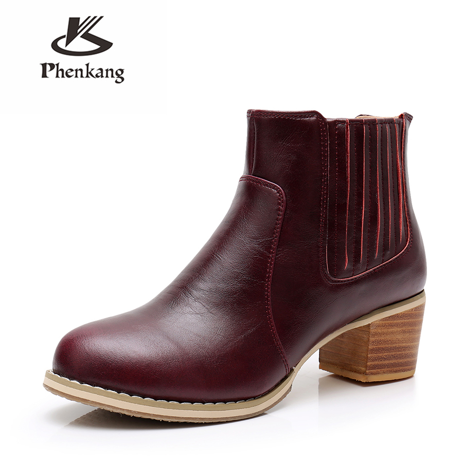 Women winter boots Genuine cow Leather Ankle chelsea Boots women shoes elastic band Handmade winter boots red black with fur elastic band women genuine leather ankle boots chelsea hand made shoes motorcycle coincise fashion black matte women s boots