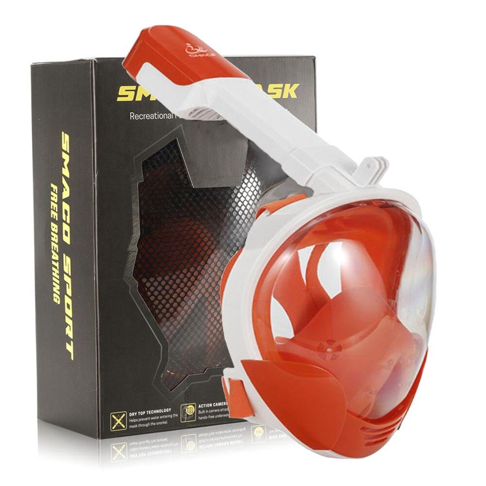 Nouveau Masque de natation complet pour plongée sous-marine Masque de plongée sous-marine 180 degrés vue pour Gopro caméra Masque de plongée en apnée