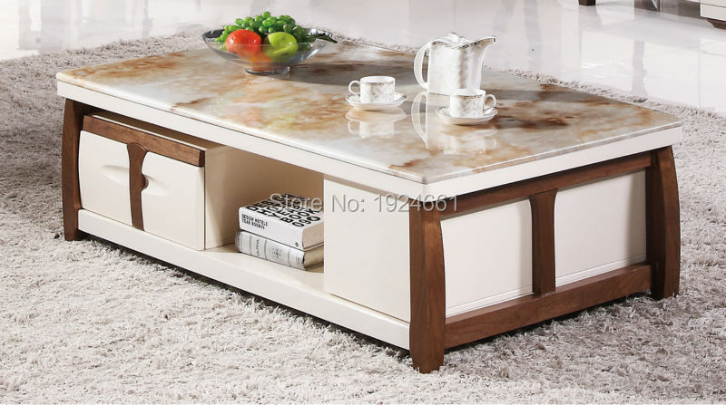 Modern Coffee Table 2016 Side Table Cam Sehpalar Mirrored Furniture Real Muebles Wooden Coffee With Desktop New Model Tea 8087