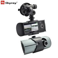 2 7 Dual Lens Front Back Two Cameras Dash Cam GPS Tracker Logger Car DVR Camcorder