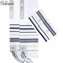 BOHOWAII המוסלמית חיג אב יהודית חדשה תפילת צעיף ארוך Hijabs Tallit עם תיק תואם