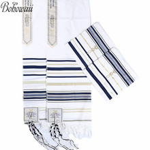 BOHOWAII Muslim Prayer Hijab Jewish New Covenant Prayer Shawl Long Hijabs Tallit with Matching Bag