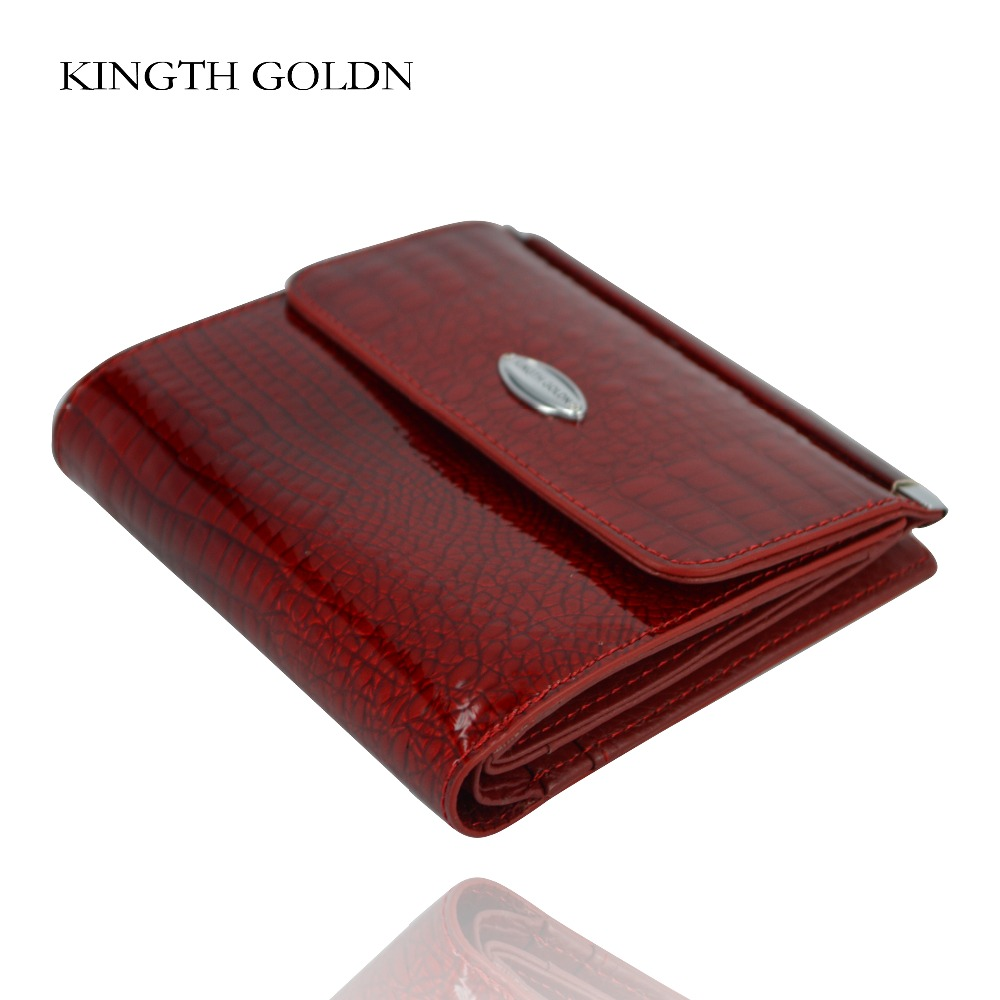 KINGTH GOLDN Women Wallet Female Genuine Leather Short Wallets Women Coin Purse Small Card Holder Money Bag