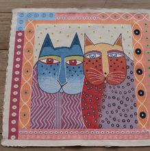 wholesale Husband and wife cat pillow cushion fabric, cotton linen jacquard fabrics home decoration 4PC / SET 50*50cm B830