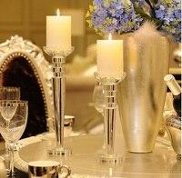 Европейский стиль Кристалл подсвечник современные аксессуары для дома Романтические свадебные подсвечники Бытовая подсвечник Бесплатная