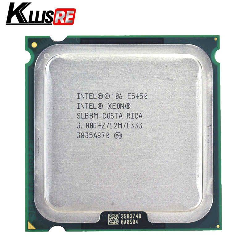 Intel Xeon E5450 Quad Core 3.0GHz 12MB SLANQ SLBBM Processor Works on LGA 775 mainboard no need adapter
