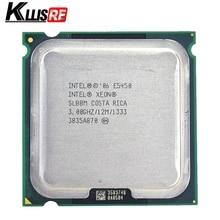 معالج Intel Xeon E5450 رباعي النواة 3.0 جيجاهرتز 12 ميجابايت SLANQ SLBBM يعمل على اللوحة الرئيسية LGA 775 لا تحتاج إلى محول