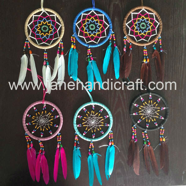 Hot Sale 40pcslot Mix 40 Color Beads Inside Shipping Free Hot Sale Adorable Native American Beaded Dream Catchers