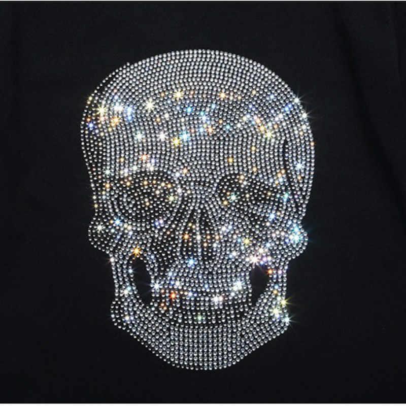... Mastermind Japan Shining Diamond Rhinestone Skull O-neck Short-sleeve  Cotton T-shirt ... b2164a676c0d