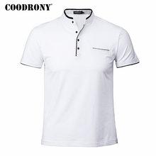 COODRONY Mandarin Collar Short Sleeve Tee Shirt Men 2018 Spring Summer New Top Men Brand Clothing Slim Fit Cotton T-Shirts S7645