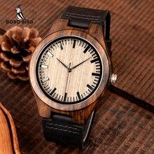 Relogio masculino BOBO BIRD Ebony นาฬิกาไม้ผู้ชายญี่ปุ่นควอตซ์ไม้นาฬิกา erkek Kol saati ผู้ชายของขวัญยอมรับโลโก้