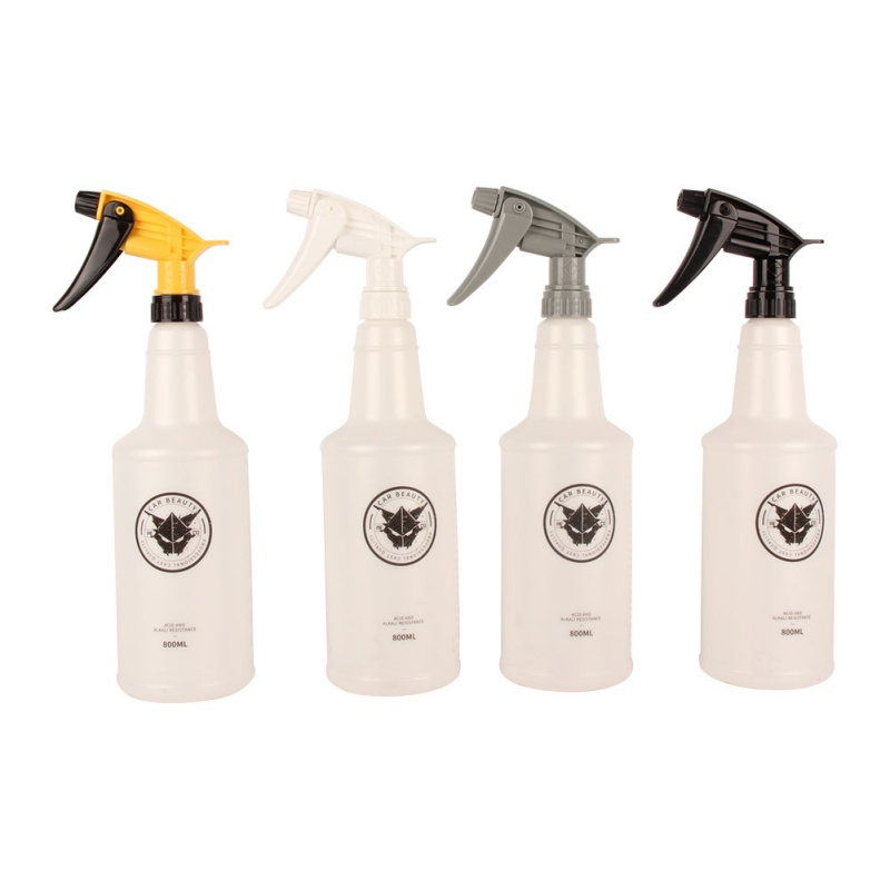 1Pcs Professional 800ML Ultra-fine Water Mist Cylindrical Spray Bottle HDPE Chemical Resistant Sprayer For QD Liquid Auto Detail
