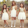 Sequins Baby Flower Girl Dress Bow Heart Hollow Out Back Party Gown Formal Bridesmaid Pleated Dress Princess Dress Vestidos