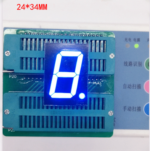 Free Ship 100pc Common Cathode 1inch Digital Tube 1 Bit Digital Tube Display Blue Digital Led Tube Factory Direct
