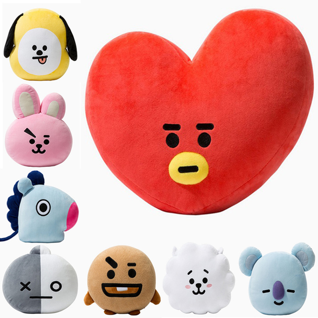 9eea770f9305 BTS21 BTS Bangtan Boys Plush Toy Pillow Warm Bolster Q Back Cushion Plush  Doll TATA VAN COOKY CHIMMY SHOOKY KOYA RJ MANG