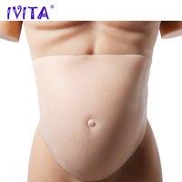 IVITA 2500g 8 10 Months Pregnant Silicone Belly Fake Silicone Big Abdomen Drag Queen Soft Realistic Lifelike Silicon Pregnancy