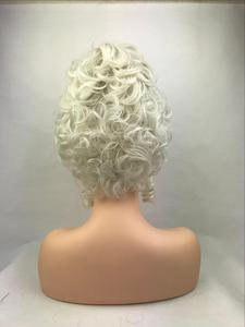 Image 3 - High Quality Marie Antoinette Princess Medium Curly Cosplay Wig  Heat Resistant Synthetic Hair Cosplay Wigs + Wig Cap