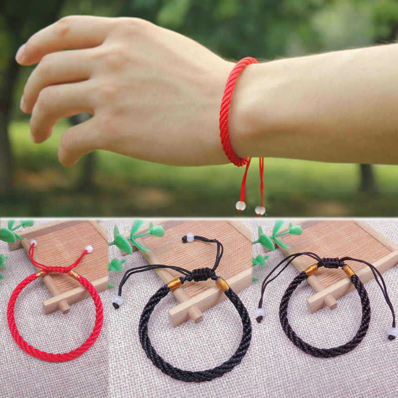 Lucky Bracelet 1PC Allergy Free Handmade Knit Red/Black/Coffee Wedding Exquisite 2019 New Arrival Adjustable Seaside