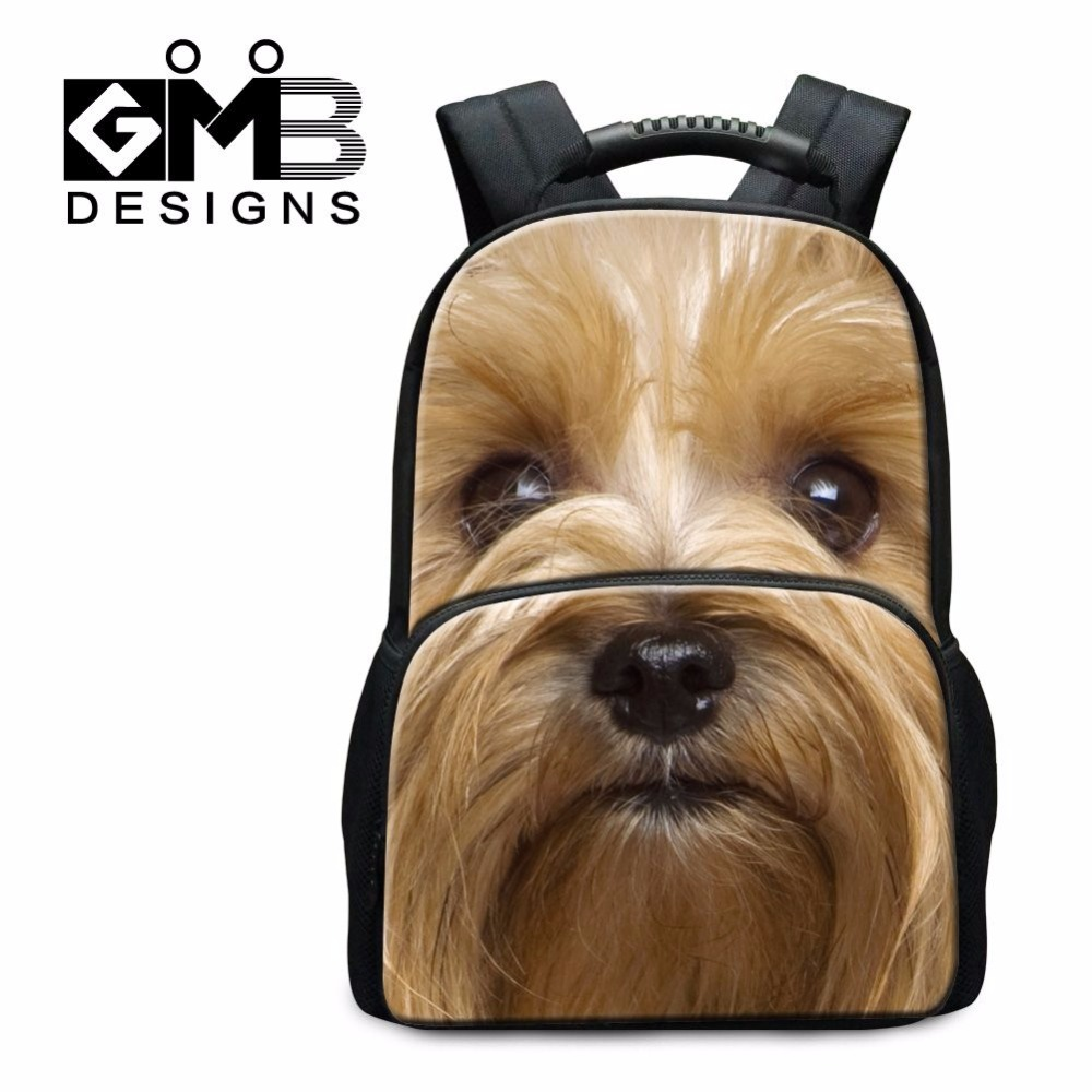 ФОТО Dispalang fashion poodle puppy with red bowknot felt backpack 17 inch schoolbags for college students casual tourism bagpack
